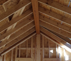 exemple de toits à ossature en bâton